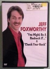 jeff foxworthy YOU MIGHT BE A REDNECK IF & CHECK YOUR NECK   DVD NEW