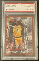 1996-97 Topps Finest #74 Kobe Bryant Lakers RC Rookie PSA 10 GEM MINT! Lakers!
