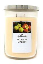 Hallmark Jar Candle 22 oz, 2 wicks, soy based, metal lid, Tropical Market