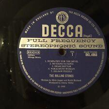 ROLLING STONES - BEGGARS BANQUET unboxed Decca 1968 1ST Press vinyl LP no cover*