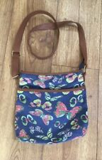 GEORGE - Ladies Canvas Butterfly Messenger/Across Body Bag