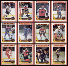 1987 Topps Hockey NHL Card Insert Sticker Set of 12 All Stars 87-88 Gretzky