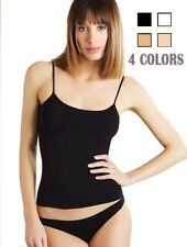 4 Pack Womens Cotton Camisole Tank Top Spaghetti Strap Assorted Colors Plain SML