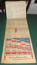 The Toy Tinkers, Inc - Tinkertoy Tricks - 1952 Original instruction sheet