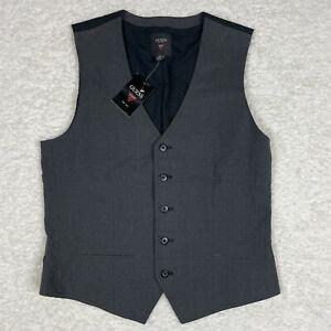 GUESS Vest Mens Medium Dress Suit Clove Gray Black Button Buckle Adjustable NWT