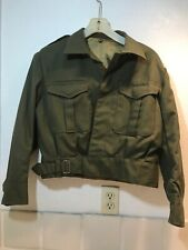 Vintage 1968 Military Wool Jacket Army Green Russian ? Silk Lining