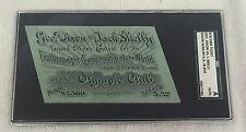 Geo Dixon vs Jack Skelly 1892 Featherweight Championship Fight Ticket SCG Authen