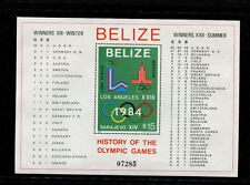 Belize 1981 Scott 561-2 1984 Los Angeles and Sarajevo Olympics Souvenir Sheets
