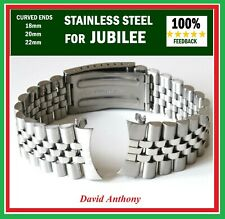 18mm 20mm OR 22mm FOR JUBILEE LINK STYLE CURVED END ENDS WATCH BRACELET QUALITY