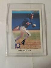 1990 Leaf #297 DAVE JUSTICE Atlanta Braves ROOKIE Card