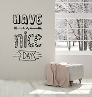 Vinyl Wall Decal Words Phrase Nice Day Home Bedroom Decor Stickers Mural (g3788)