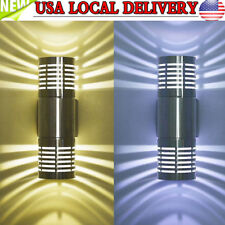 LED Modern Exterior Wall Light Sconce Dual Head Wall Lamp Fixture Outdoor Porch