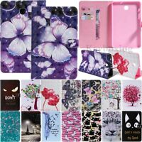 """For Samsung Galaxy Tab A 8.0"""" T387 T380 T385 T350 Folio Stand Leather Case Cover"""