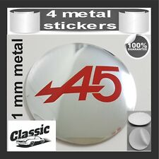 METAL STICKERS WHEELS CENTER CAPS Centro LLantas 4pcs Classic RENAULT ALPINE 11