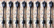 Pack of 8 Black Street Lights Adjustable Height N Gauge SMS004L 3v LED