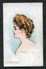 C1910 Art Card: Portrait of a Lady by C.Dana Gibson from Pictorial Comedy Series
