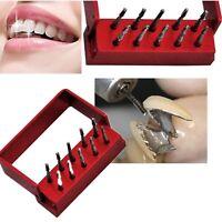 10Pcs High Speed Dental Tungsten Steel Crown Metal Cutting Burs FG-1957 +Holder