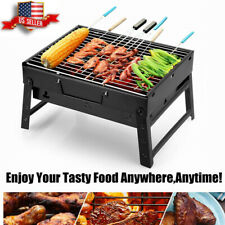 Portable Fold Barbecue Charcoal Grill Stove BBQ Patio Camping Cooker Outdoor