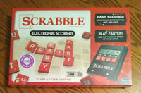 New SCRABBLE ELECTRONIC SCORING Crossword Board Game HASBRO SEALED