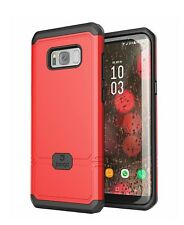 Samsung Galaxy S8 Plus Protector Case Slim Red Black Cover
