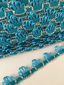 Turquoise 15mm wide lace x 6m