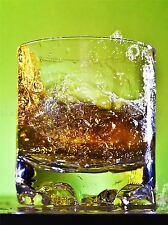 WHISKEY BAR DRINK alcool in vetro ad alta velocità VERDE FOTO ART PRINT POSTER bmp927a