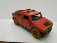 2005 HUMMER H2 SUT muddy red kinsmart TOY model 1/40 scale diecast open doors