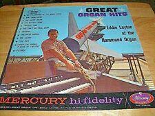 """EDDIE LAYTON-""""GREAT ORGAN HITS"""" LP-1961-MONO-MERCURY #MG 20639-1st PRESS-USED"""