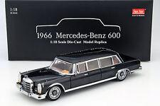 Mercedes-Benz 600 Pullman Baujahr 1966 schwarz 1:18 SunStar