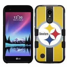 for LG K20 Plus/LG V5 Impact Armor Rugged Hybrid Case Pittsburgh Steelers #ST