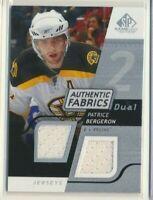2008-09 SP Game Used Authentic Fabrics Dual Patrice Bergeron Boston Bergeron