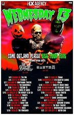 """Wednesday 13 """"Come Out And Plague U.S.A. Tour 2016"""" Concert Poster -Horror Metal"""