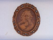 VINTAGE WALL PLAQUE  SIGNED WANDERER  MADE OF COMPOSITION TYPE MATERIAL