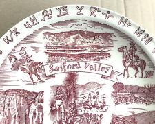Vintage Vernon Kilns Western Commemorative Plate Safford Valley Arizona Clean!