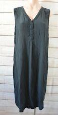 Sportscraft Signature Tunic Dress Size 16 Black Silk Sleeveless