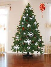 30pcs Assorted Sizes White Snowflakes Christmas Oranment Decor XMAS Tree Party