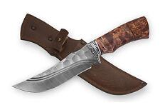 "Russian knife ""Siberia"".Damascus steel-stone.Handmade.61HRC,Karelian birch"