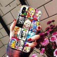 Marilyn Monroe Cute Style Case cover iPhone 5 6 6S 7 8 + plus X XS XR XS MAX