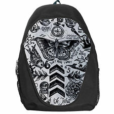 New One Direction Tattoos 1D School Bag Netbook Backpack Travel Day Pack Gift
