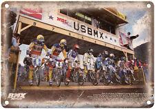 "BMX Action, BMX Race, Brent and Brian Patterson 10"" x 7"" Vintage Look Reproducti"