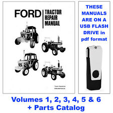 Ford 2600 6 Volume Tractor Service Repair Manual 2600 Parts Catalog Usb Drive