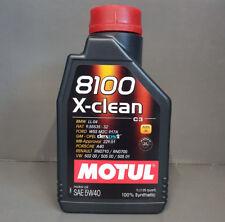 1 Litro MOTUL ACEITE DE MOTOR 5w40 8100 X-CLEAN C3 totalmente sintético VW