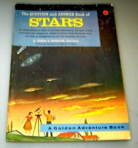 A Golden Book Questions and Answer book of Stars 1963 by Thomas Nicholson