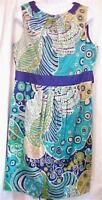 Ladies Size 14 Tropical Print Sundress Evan Picone Sheath New with Tags
