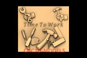 3D Model for CNC STL File Artcam Aspire Vcarve tools time for work panno PK123