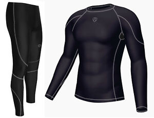Dhera Men's Compression Armour Base layer Top & legging running Skin Fit Tights