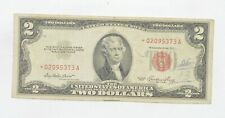 *Star* 1953 Red Seal $2.00 United States Note - Replacement *742