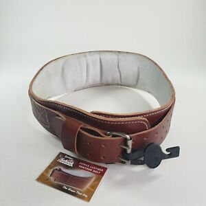 SCHIEK Genuine Power Weight Lifting Belt Contour Leather Brown L2006 Size Large