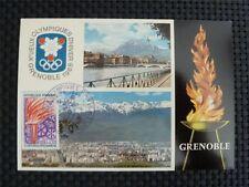 FRANCE MK 1968 OLYMPIA WINTER OLYMPICS MAXIMUMKARTE CARTE MAXIMUM CARD MC c1453