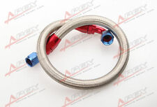 """53"""" 8AN SS Braided Racing Performance Oil Fuel Coolant Line Hose Assembly"""